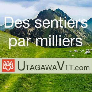 UtagawaVTT, des milliers de randonnées VTT avec traces GPS.